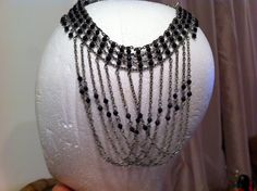 Funky collar that may need to be a headdress or necklace. Headdress, Suitcase, Magic, Jewelry, Jewellery Making, Jewerly, Suitcases, Jewlery, Headpiece