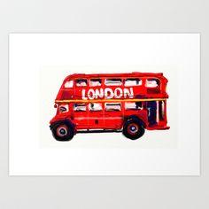London Bus Art Print by vijaykumar - $17.68