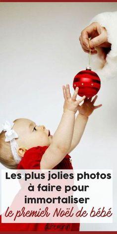 Les plus jolies de photos à faire pour immortaliser le premier Noël de bébé. Découvrez toutes les bonnes idées à reprendre, sur #aufeminin /// #photodebébé #noelfamille #fetesfindannee #nouveauné #photographie #ideenoel #noelenfant #aufeminin Jolie Photo, Christmas Bulbs, Jeanne, Holiday Decor, Photos, Woman, Kitchen, End Of The Year Celebration, Christmas Photography