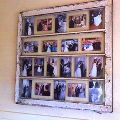 Antique window for a picture frame