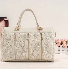Hot Sale New Fashion 2016 Vintage Lace Handbag Women PU Leather Tote Shoulder Bag Popular Messenger Bag F097