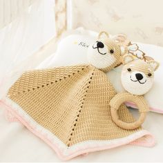 Puppy blanket and rattle