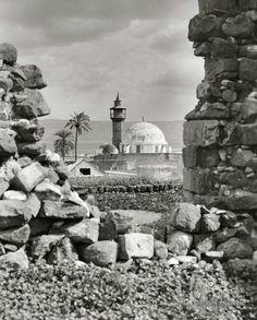 مسجد طبريا - فلسطين 1900م  Mosque tiberias-palestine 1900