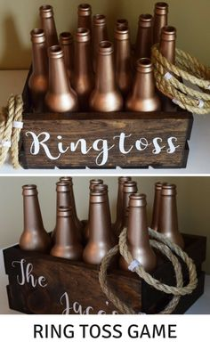 Ring Toss Ringtoss Personalized Customized Rose Gold Wedding Over sized Big Outdoor Wedding Yard Lawn Game! #outdoor #game #affiliate #outdoorweddingreception #weddings