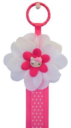 HAIR BOW HOLDER Pink Kitty Design 3 Feet Long by FunnyGirlDesigns