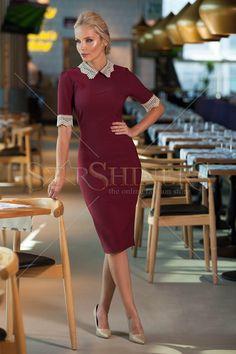 Fofy Cute Missy Burgundy Dress
