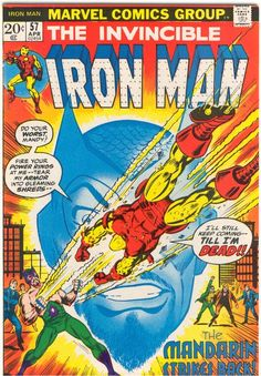 Iron Man #57, April 1973, cover by George Tuska and Frank Giacoia.