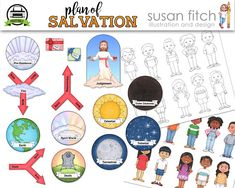 Plan of Salvation Printable Cut-Outs