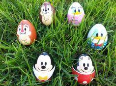 Disney character Easter eggs!!
