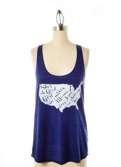 She's a good girl loves her mama loves Jesus & America too! - Judith March Tom Petty Tank!