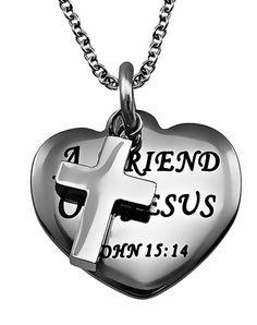 'Friend Of Jesus' Sweetheart Necklace on SonGear.com - Christian Shirts, Jewelry