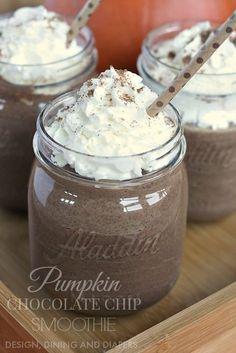 Pumpkin Chocolate Chip Smoothie