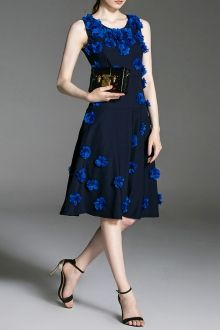 Fit and Flare Stereo Floral Dress