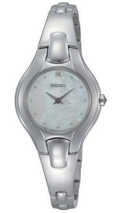 Seiko SUJF85 Women's Quartz Diamond Stainless Steel Bangle Bracelet Watch - Discount Watch Store