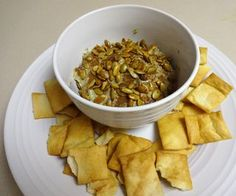 Dip Into Pumpkin Seed Oil: So you've taken the plunge, and gotten some pumpkin oil to do science experiments with.A nice dip to eat is a good start for using up that can of oil and leftover seeds. Whole Food Recipes, Dog Food Recipes, Healthy Recipes, Pumpkin Seed Oil, Main Meals, Dips, Appetizers, Snacks, Canning