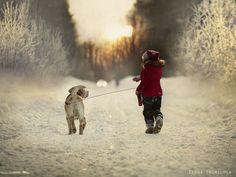 take a walk in snow