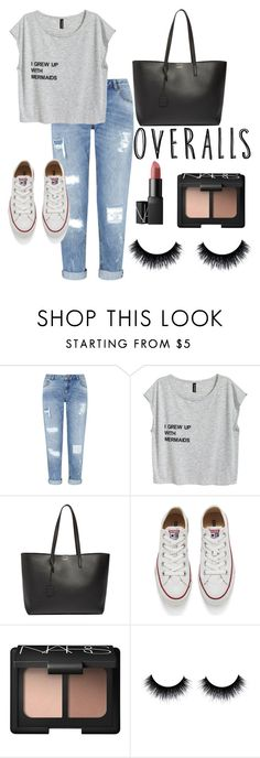 """""""Girly"""" by bianca-diana-popovici ❤ liked on Polyvore featuring Miss Selfridge, Yves Saint Laurent, Converse and NARS Cosmetics"""