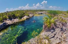 Yal Ku Lagoon in Akumal near Tulum Mexico - great for snorkeling