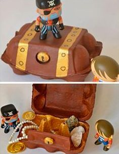 Piraten storage organization nz - Storage And Organization Deco Pirate, Pirate Day, Pirate Birthday, Pirate Theme, Toddler Crafts, Toddler Activities, Crafts For Kids, Pirate Crafts, Egg Carton Crafts