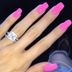 pink acrylic nails 60 Most Gorgeous And Lovely Pink Nails Design (include Acrylic Nails, Matte Nails Hot Pink Nails, Pink Acrylic Nails, Love Nails, How To Do Nails, Fun Nails, Barbie Pink Nails, Matte Nails, Pink Summer Nails, Nail Pink