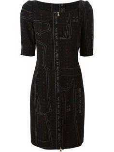 cutting pattern print dress