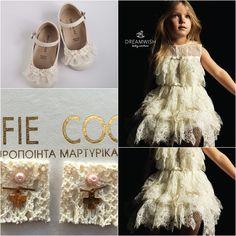 b44734d6d36 Βαπτιστικά παπούτσια ΒABYWALKER , χειροποίητο φόρεμα Swan της DREAMWISH και  μαρτυρικά Celfie Coco! www.