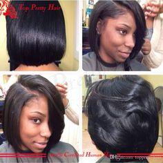 100 Human Hair Lace Bob Wigs Baby Hair Glueless Full Bob Human Lace Wig…