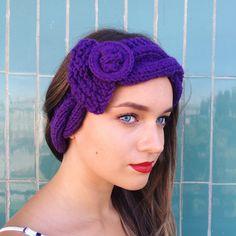 Gorgeous hand knit headband! (19.00 USD) by mymomsshop1
