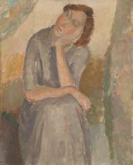Melancholie en depressie in Museum Dr. Guislain : Hippolyte Daeye, Mijmering, 1923 - Koninklijke Musea voor Schone Kunsten van België
