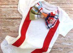 Red Valentine's Day Suspender Bodysuit by sherbetwithsprinkles