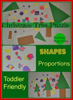 Teach proportions with a Christmas tree activity