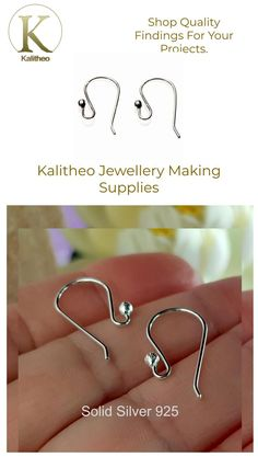 #SolidSilverHooks #QualityFindings #Silver925Findings #BeadingSupply #EarringHooks #HandmadeFindings #HandmadeEarWires #EarWires #JewelleryMaking #JewellerySupply #AusOnlineShop #OnlineFindings Visit our jewellery supply section @ kalitheo.com.au for our range of findings and beads. Handmade with Australian Refined Sterling Silver 925 Eurostyle Ear Hooks are made from 0.8 mm Sterling Wire