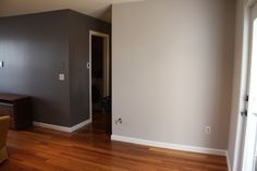 the lighter grey is our landing and hallway color! :)