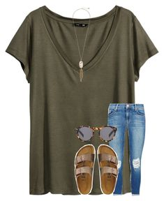 """"""""""" by lindseydykes18 ❤ liked on Polyvore featuring H&M, TravelSmith, Kendra Scott, J Brand and Illesteva"""