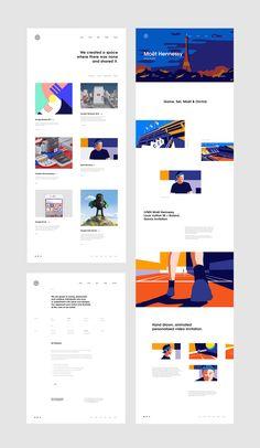 f186f675901433 web inspiration Clean Web Design, Web Ui Design, Page Design, Flat Design, Blog Website Design, Ui Website, Web Portfolio, Portfolio Design, Fuze Tea