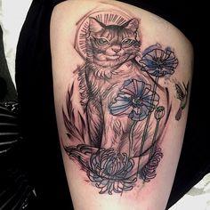 Cat -a -tatt - tatt by the amazing Nomi Chi