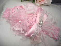 Pink Baby Headband Baby Girl Flower Headband by lepetitejardin, $23.95