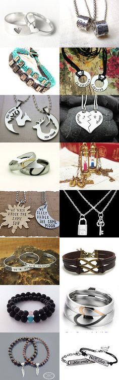 Couples set of jewels,for Valentines Day. by Stavros Dragatakis on Etsy--Pinned with TreasuryPin.com