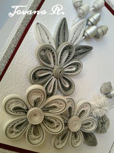 Unique handmade greeting card Quilling Wedding by PaperMagicByJR