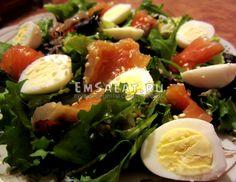 Салат из красной рыбой - http://emsalat.ru/salad_fish/salat-iz-krasnoy-ryiboy.html