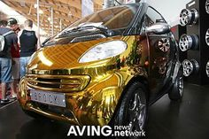 Gold-plated Benz Smart Fortwo