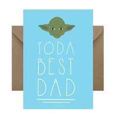 Yoda Best DAD Fathers Day Card Star Wars by RumbleCards on Etsy