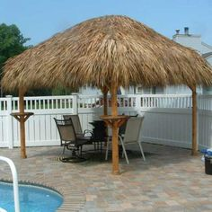 Available Upgrades: Tiki Bar Tiki Furniture Tiki Accessories Electric Plumbing Cable TV Connection Flat Screen TV Speakers Lighting Ceiling Fans Roof Netting Roof Fireproofing