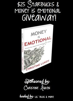 $25 Starbucks & Money Is Emotional Giveaway! 1 Winner ~ Ends 6/30 Welcome to the Money is Emotional and $25 Starbucks Gift Card Giveaway Event!! This event is sponsored, and brought to you by blogger, and author: Christine Luken. Hosted by: Lil' Blog and More & Co-hosted by the Hartwell Real Estate Blog! Thank you …http://deliciouslysavvy.com/25-starbucks-money-emotional-giveaway-1-winner-ends-630/?utm_source=MadMimi&utm_medium=email&utm_content=RSS+Feed+for+http%3A%2F%2Fdeliciousl