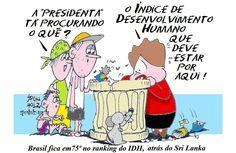 Brasil fica em 75º lugar, no INDICE DE DESENVOLVIMENTO HUMANO, atrás do Sri Lanka.