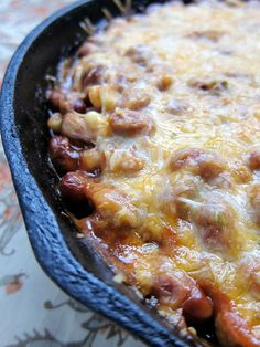 Tamale Pie. Not sure if I would use the recipe, but I'm thinking I could invent my own tamale pie from my tamale knowledge. Maybe just mix up masa like you're making real tamales rather than using polenta, etc.