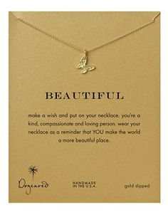 Dogeared 'Beautiful' Necklace Women's Gold