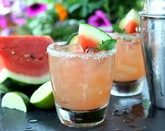 Watermelon, Cucumber and Lime Cocktail http://www.lanascooking.com/2015/06/26/watermelon-lime-and-cucumber-cocktail/