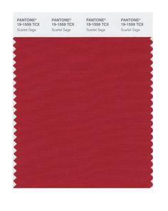 Pantone 19-1559 TCX Smart Color Swatch Card, Scarlet Sage - Amazon.com