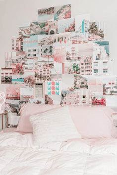 dorm room ideas aesthetic vibes Photo Wall Collage, Picture Wall, Unique Wall Art, Aesthetic Collage, Teen Bedroom, Color Themes, Dorm Room, Wall Prints, Gallery Wall